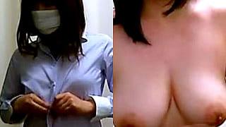 健康診断のレントゲン撮影で隠し撮りされた盗撮エロ動画