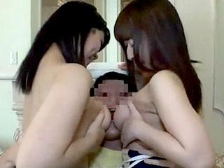 スク水美少女2人がパイズリフェラサービスするエロ動画