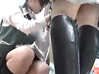 素人の女性たちをつけ狙いパンチラを盗撮しているエロ動画