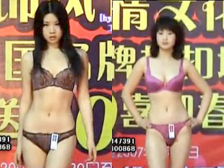 中国の下着モデルたちをエロ目的で撮影したエロ動画
