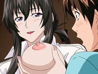 【エロアニメ】友達の自宅のトイレで出くわした淫乱痴女のお姉さんが誘惑してキタぁー…突然、欲求不満が爆発して童貞喪失までしちゃうがそのヒトは親友の叔母さんだった☆アマネェ! ~トモダチンチでこんな事になるなんて!~
