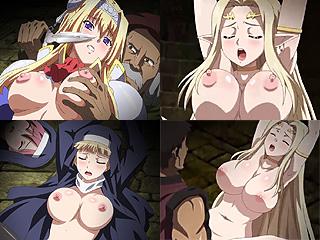 修道女や白き女神が姫騎士の目の前で汚される黒獣って無料エロアニメ