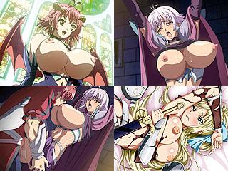 サキュバスや女騎士たちを喰い捲りな巨乳ファンタジーってエロアニメ