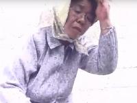 田舎のモンペ姿の素人七十路おっ母さんが若いチンポにハメられご満悦SEX