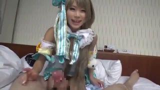 美少女アニコスGALが騎乗位SEX電マオナニー披露するエロ動画