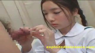 三つ編みロリっ娘JKがデカチンでパコられる女子高生SEX動画