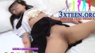 睡眠薬で眠らせた素人JKに悪戯SEX顔射した個撮ヤバイエロ動画