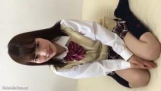 ハメ撮り援交希望のエッチな女子校生との3P中出しSEX動画