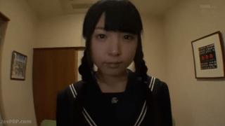 三つ編み制服JKのマンコ全開SEXからお掃除フェラ激オナニーのエロ動画