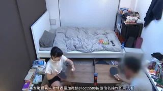 会社の後輩の美乳キュート美少女を部屋連れ込み脱衣卓球からHし隠し撮り盗撮